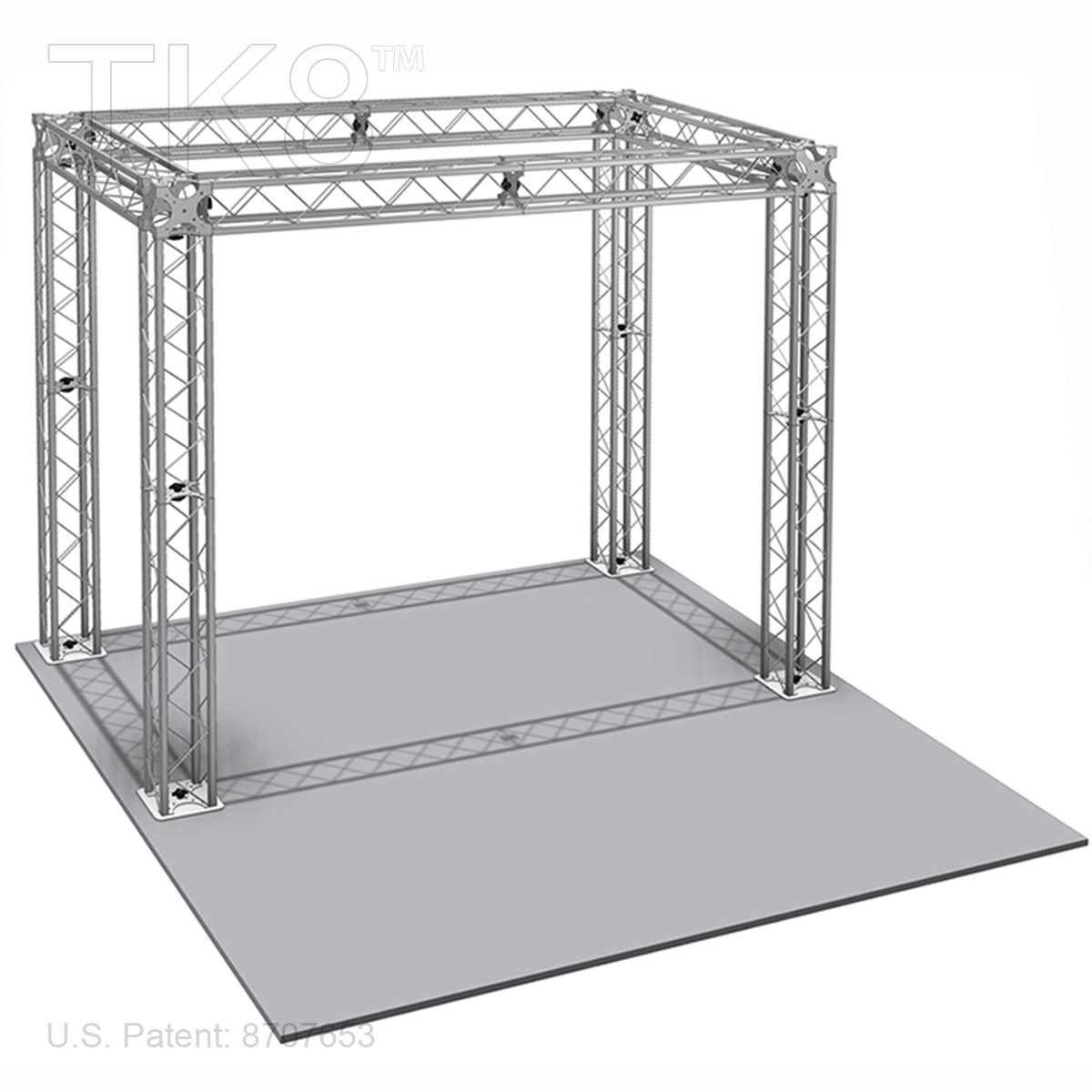 NOAH - 10FT X 10FT TK8 ALUMINUM BOX TRUSS BOOTH<BR>[FRAME ONLY]