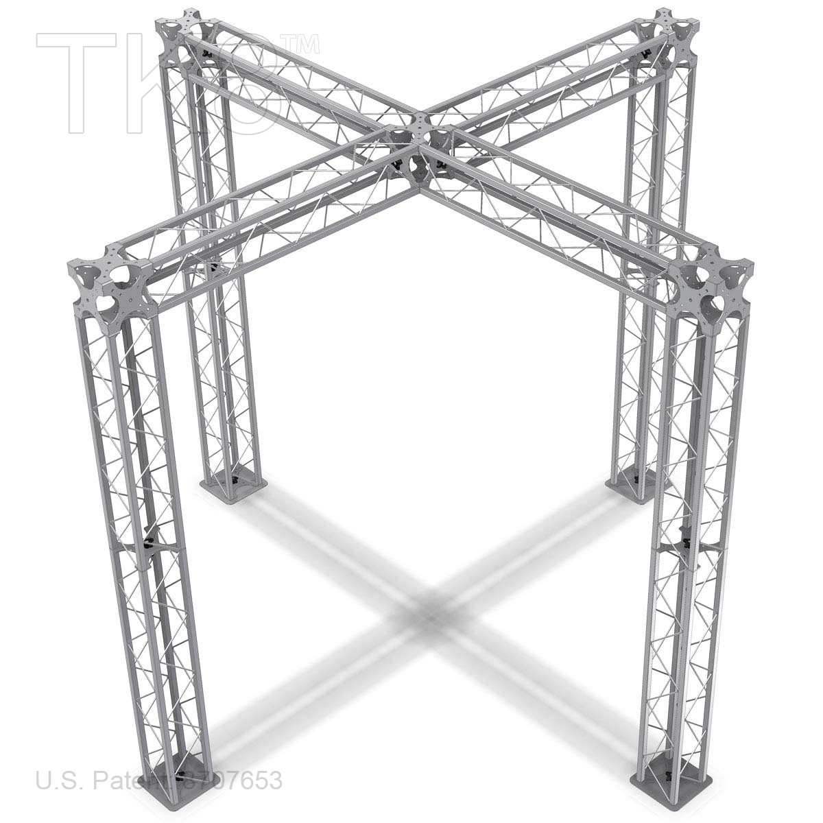 AIDEN - 10FT X 10FT TK8 ALUMINUM BOX TRUSS BOOTH<BR>[FRAME ONLY]