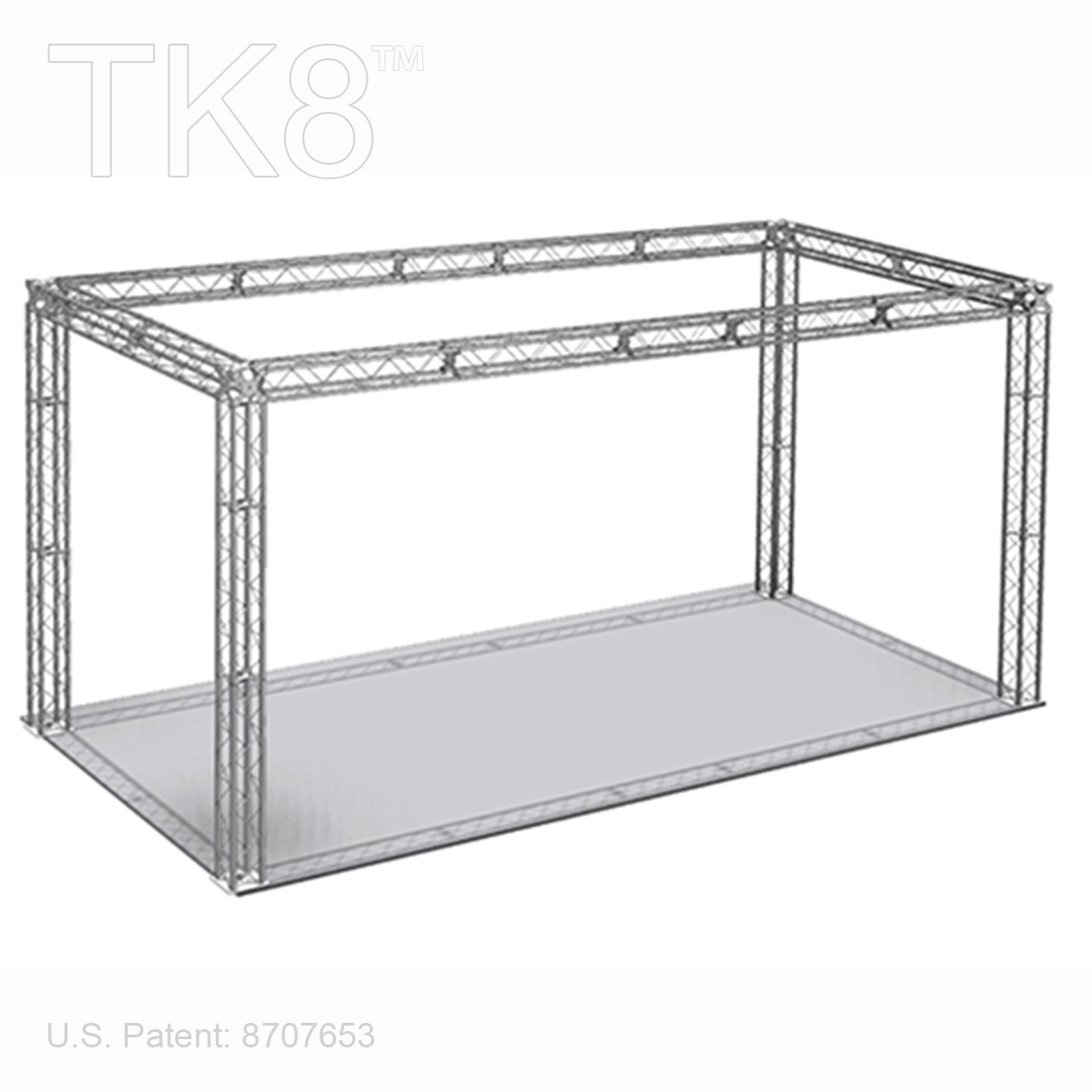 MASON 10 - 10FT X 20FT TK8 ALUMINUM BOX TRUSS BOOTH<BR>[FRAME ONLY]