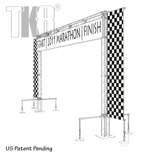 RIGGER - 20FT BY 12FT TK8 TRUSS START & FINISH LINE ARCH WITH ...