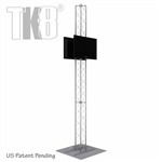 12 Ft TK8 Aluminum Truss Monitor Stand Tower