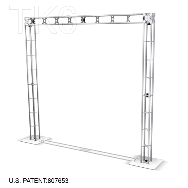 ADIRONDACK 8 X 8 FT TK6 ALUMINUM BOX TRUSS ARCH KIT<BR>[FRAME ONLY]