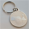 Miraculous Medal Medjugorje Silver Round Keychain