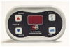 Spa Builders Spa Side Control LX-10 4 Button Peanut