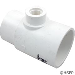 "Waterway PVC Adapter Tee Fitting w/ Air Relief Valve, 2"" Sl x 2"" Spg x 1/2"" FPT, 413-2140"