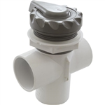 Waterway Top Access Diverter Valve Gray Scalloped