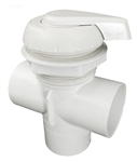 Waterway Top Access Diverter Valve White Notched