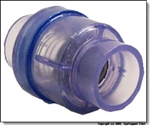 "Waterway 1/4 Lb Spring Check Valve Clear 2"" Spg X 2"" Spg"