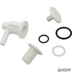 "Waterway Low Profile Air Injector, 3/8""sb, Elbow Style, White"