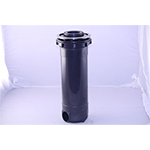 Filter Canister Assembly Graphite w Chrome Trim Ring