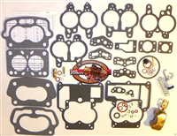 1955 69 Carburetor Rebuild Repair Kit Rochester 2B Chevy 283 350 New Brass Float