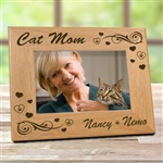 Cat Mom Picture Frame