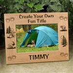 Personalized Camping Picture Frame