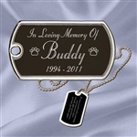 Dog Tag Memorial Jewelry