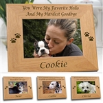 Personalized Picture Frame | Dog Memorials