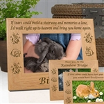 Rabbit Memorial Sentiment Frame
