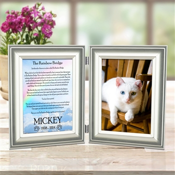 Rainbow Bridge Poem Frame For Cats