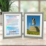 Rainbow Bridge Dog Memorial Double Frame