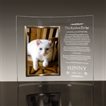 Rainbow Bridge Glass Frame For Cats