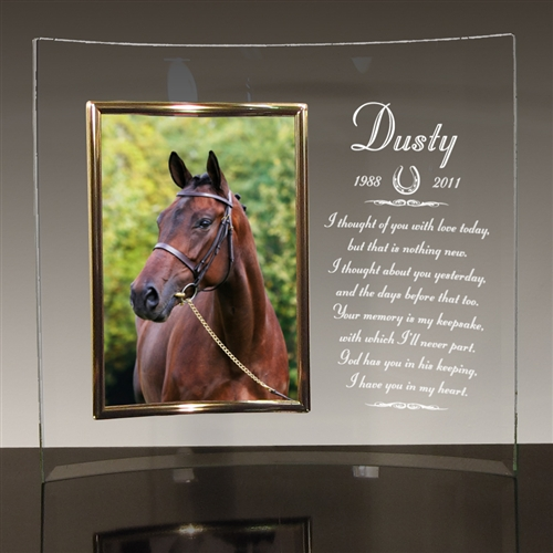 Personalized Glass Frame For Horses