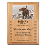 Create Your Own Dog Memorial Plaque