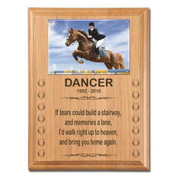 Engraved Wood Plaque For Horses