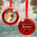 Personalized Photo Bulb Ornament