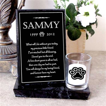 Pet Loss Candle For Cats Etched In My Heart