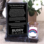 Rainbow Bridge Poem Candle