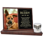 Dog Memorial Photo Candle