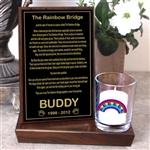 Rainbow Bridge Candle For Dogs