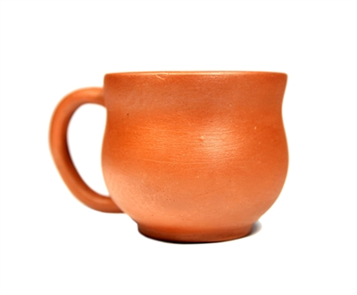 Rustic Orange Clay Cup
