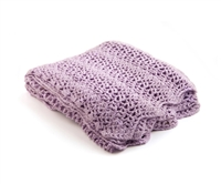 Purple Crocheted Blanket