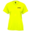 Womens Referee Tee with paddle logo. Sizes S-2XL. Safety Yellow