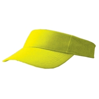 Referee Visor with adjustable strap.  One size. Safety Yellow