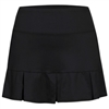 UV-protective, pleated skort. Sizes 4-14. Black