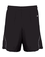 Womens Motion Shorts with contrast trim. Sizes S-2XL. Black, Yellow