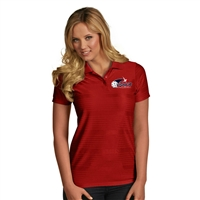 USAPA embroidered logo on the Illusion Polo for Women. Sizes S-2XL. Dark Red