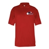 Mens Performance Polo with printed USAPA logo. Sizes S-3XL. Black, Red