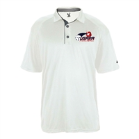 Ultimate UV Polo for Men with printed USAPA logo. Sizes S-3XL. White