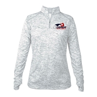 Womens Impact Pullover with USAPA printed logo. Sizes S-2XL. Silver