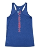 Racerback Tank with USAPA logo down the center back. Sizes S-2XL. Royal