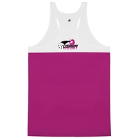 Racerback Tank with USAPA logo on center back. Sizes S-2XL. Hot Pink or Black