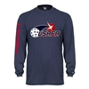 Youth Volley Longsleeve with USAPA logo. Sizes XS-XL. Navy