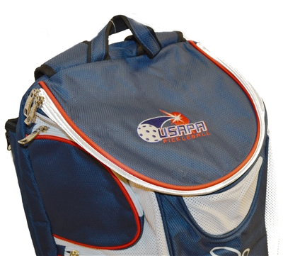 USAPA embroidered logo Fila Backpack in red, white and blue design.