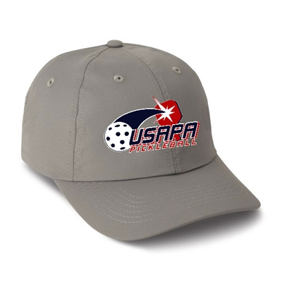 USAPA embroidered logo Performance Cap. Frost Gray, Navy, Putty