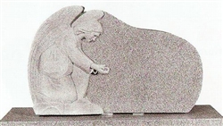 Oval Angel Granite Statue Headstone