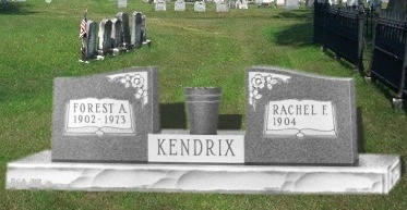 Granite Wing Headstone