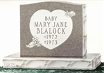 Single Granite Headstone
