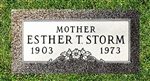 Single Granite Grave Marker